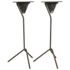 Pair of Modernist Smoke Stands