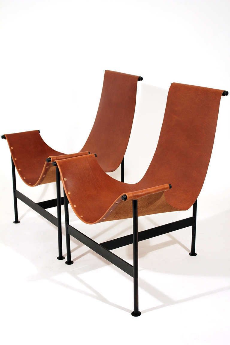 leather sling lounge chairs at 1stdibs. Black Bedroom Furniture Sets. Home Design Ideas