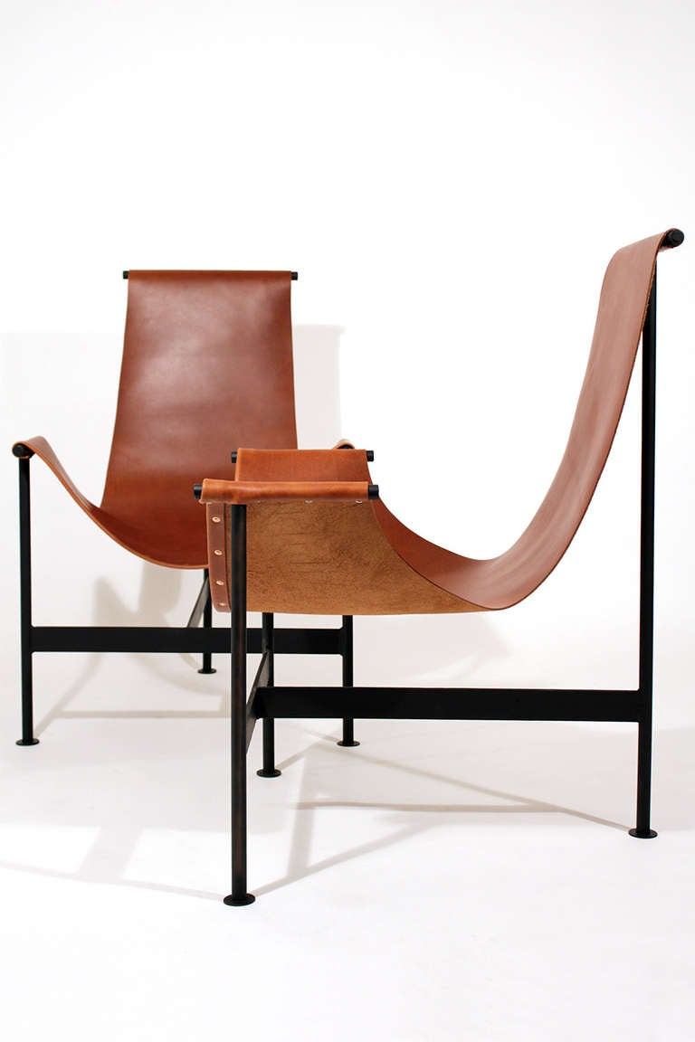 Leather sling lounge chairs at 1stdibs for Modern design lounge chairs