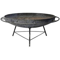 Large Modernist Fire Pit by Lobachi, 1950s