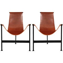 Leather Sling Lounge Chairs