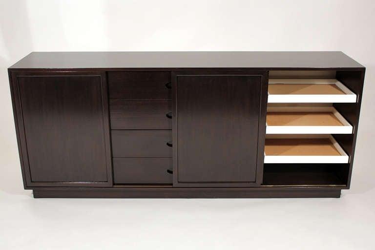 Brass Harvey Probber Cabinet For Sale
