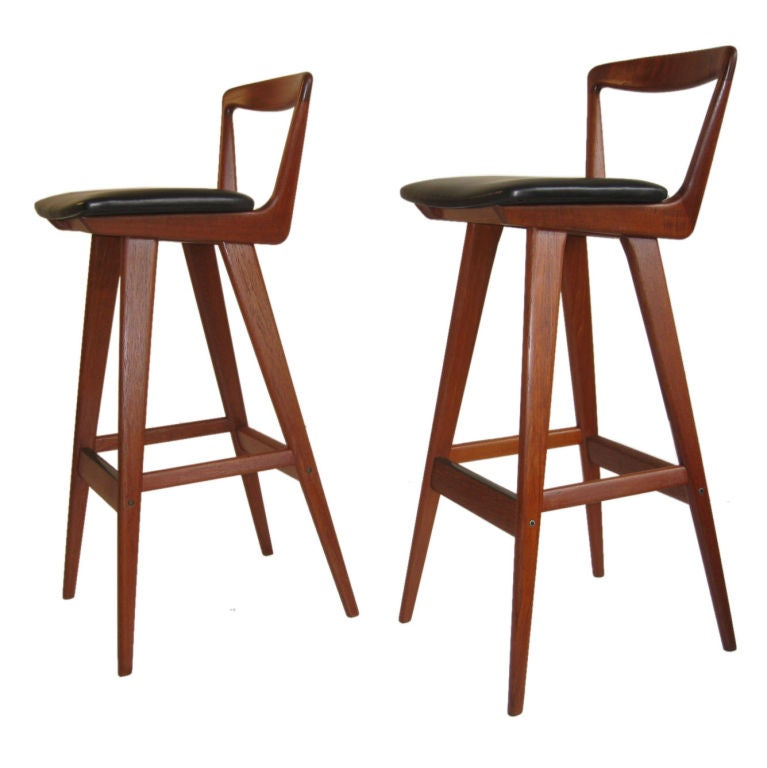 Pair of Bar Stools by Henry Rosengren Hansen