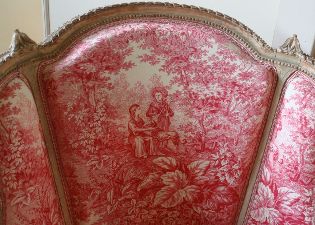 French 19th Century Napoleon III Chaise Longue with Toile For Sale