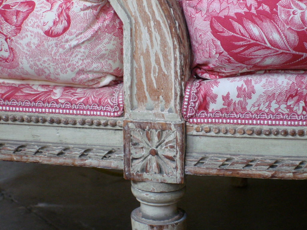 19th Century Napoleon III Chaise Longue with Toile In Good Condition For Sale In New Orleans, LA