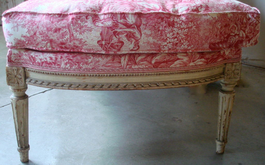19th century napoleon iii chaise longue with toile at 1stdibs. Black Bedroom Furniture Sets. Home Design Ideas