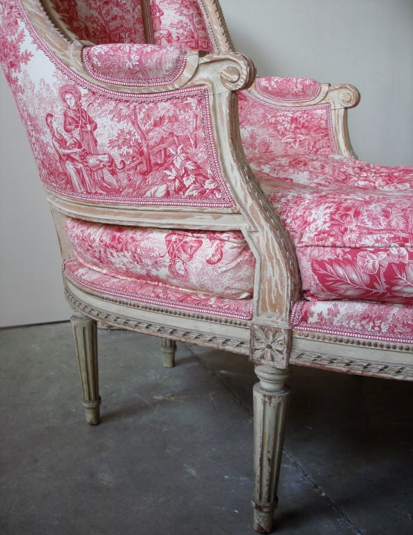 19th Century Napoleon III Chaise Longue with Toile For Sale 2