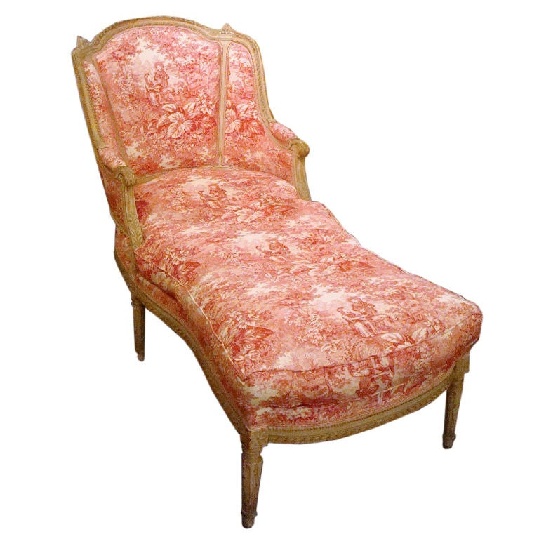 19th century napoleon iii chaise longue with toile at 1stdibs - Chaise napoleon transparente ...