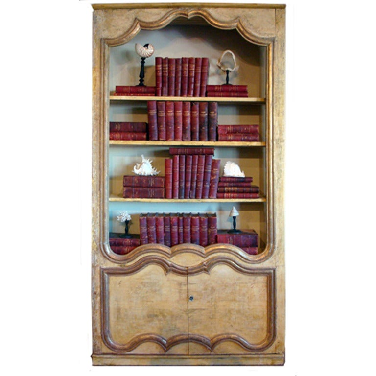 french bibliotheque made of 18 19th century boiserie at. Black Bedroom Furniture Sets. Home Design Ideas