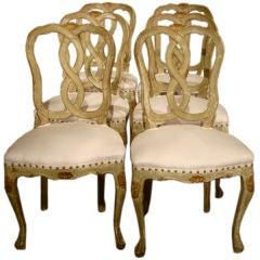 Venetian Set of 6 Chairs