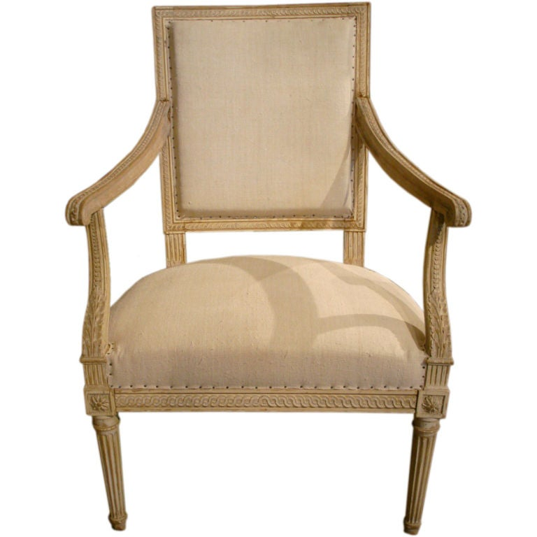 18th century louis xvi style fauteuil at 1stdibs. Black Bedroom Furniture Sets. Home Design Ideas