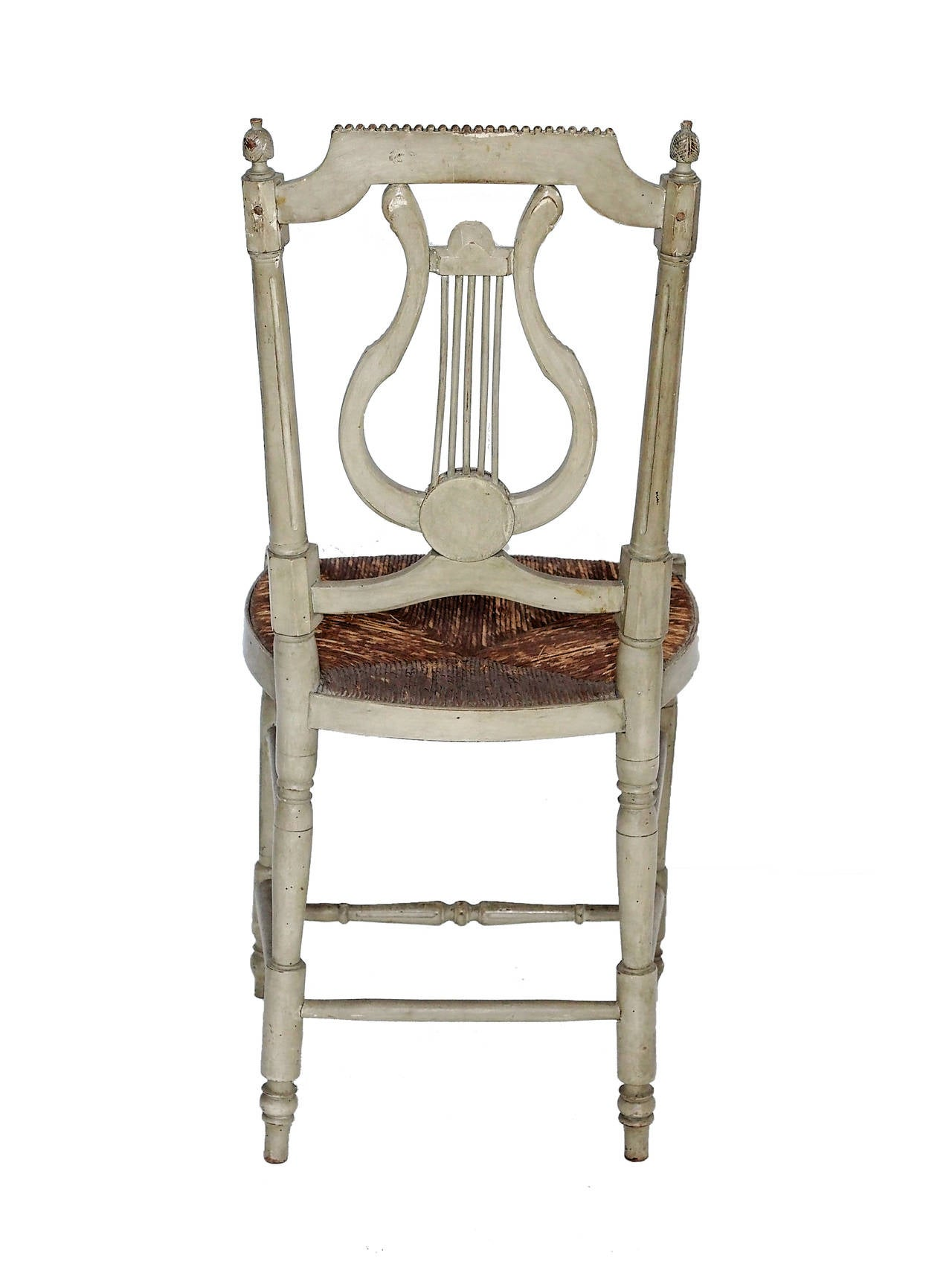 19c Napoleon Iii Set Of 4 Lyre Back Chairs At 1stdibs