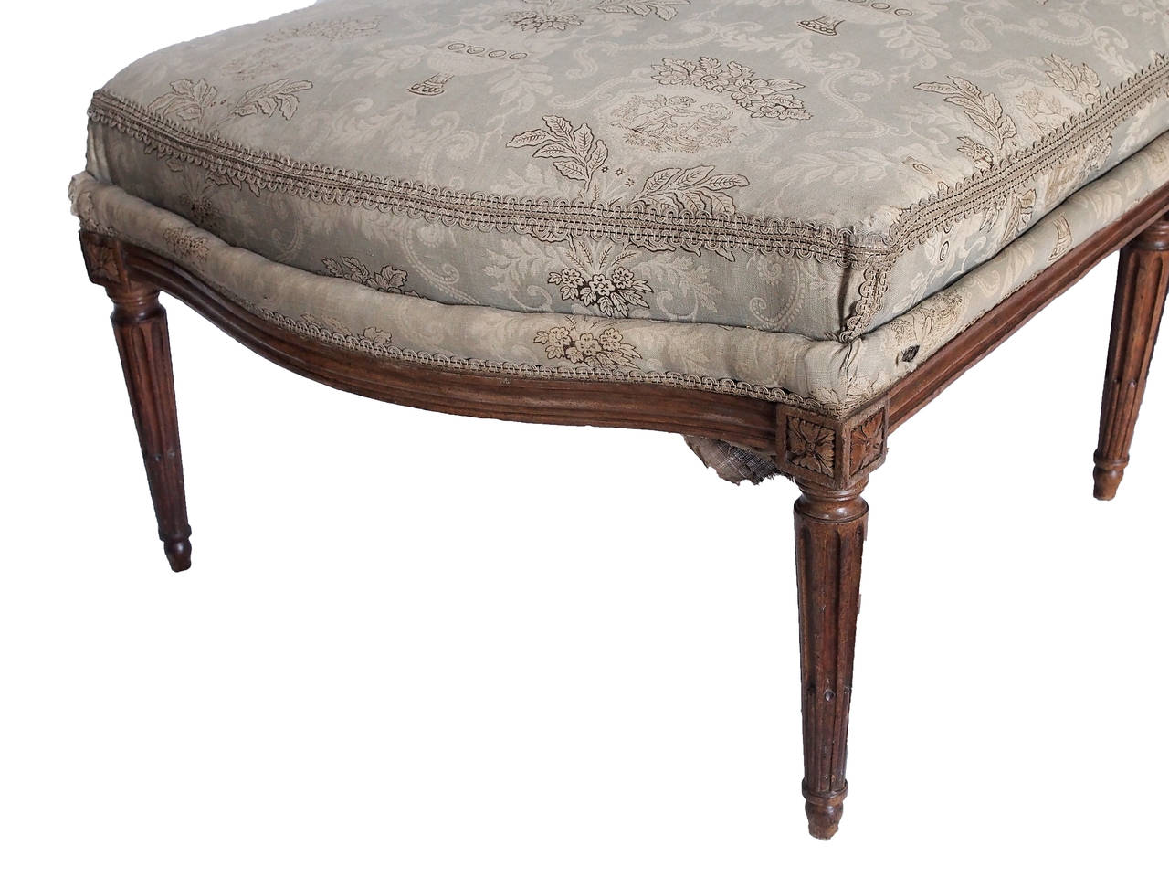 18th 19th century french louis xvi chaise with toile for Chaises louis xvi occasion