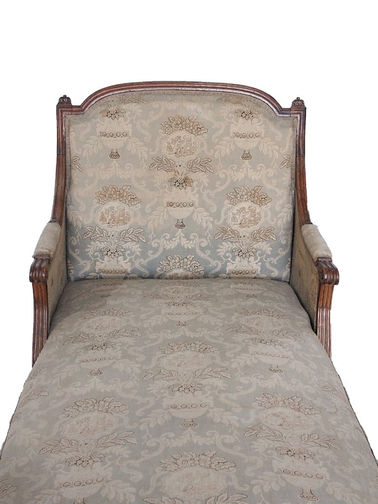 18th 19th century french louis xvi chaise with toile for Chaise longue toile