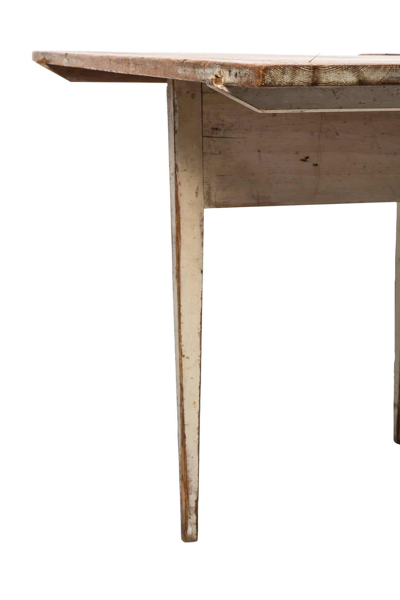 Gustavian 18c Swedish Drop-Leaf Table with Original Patina For Sale