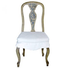 18th Century Italia Set of 12 Chairs with Cordage Seats and Upholstered Covers