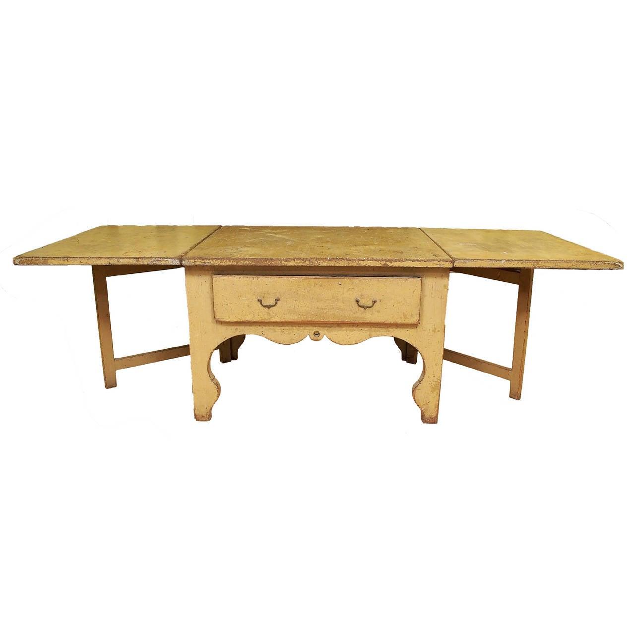 18c Swedish Rococo Drop-Leaf Table