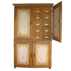 18c Italian Theatre Canvas Cupboard
