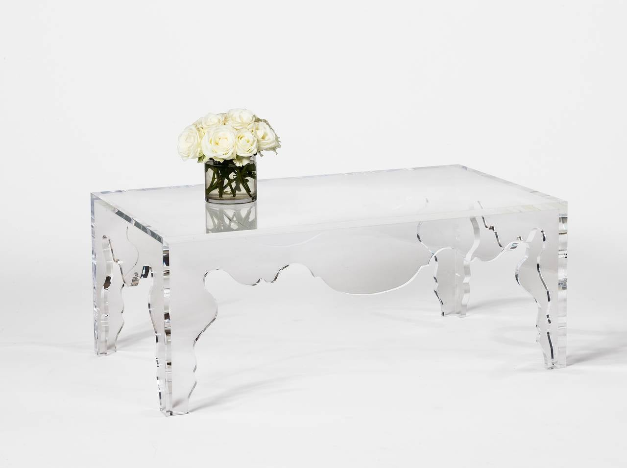 Rococo Coffee Table In Acrylic For Sale At 1stdibs