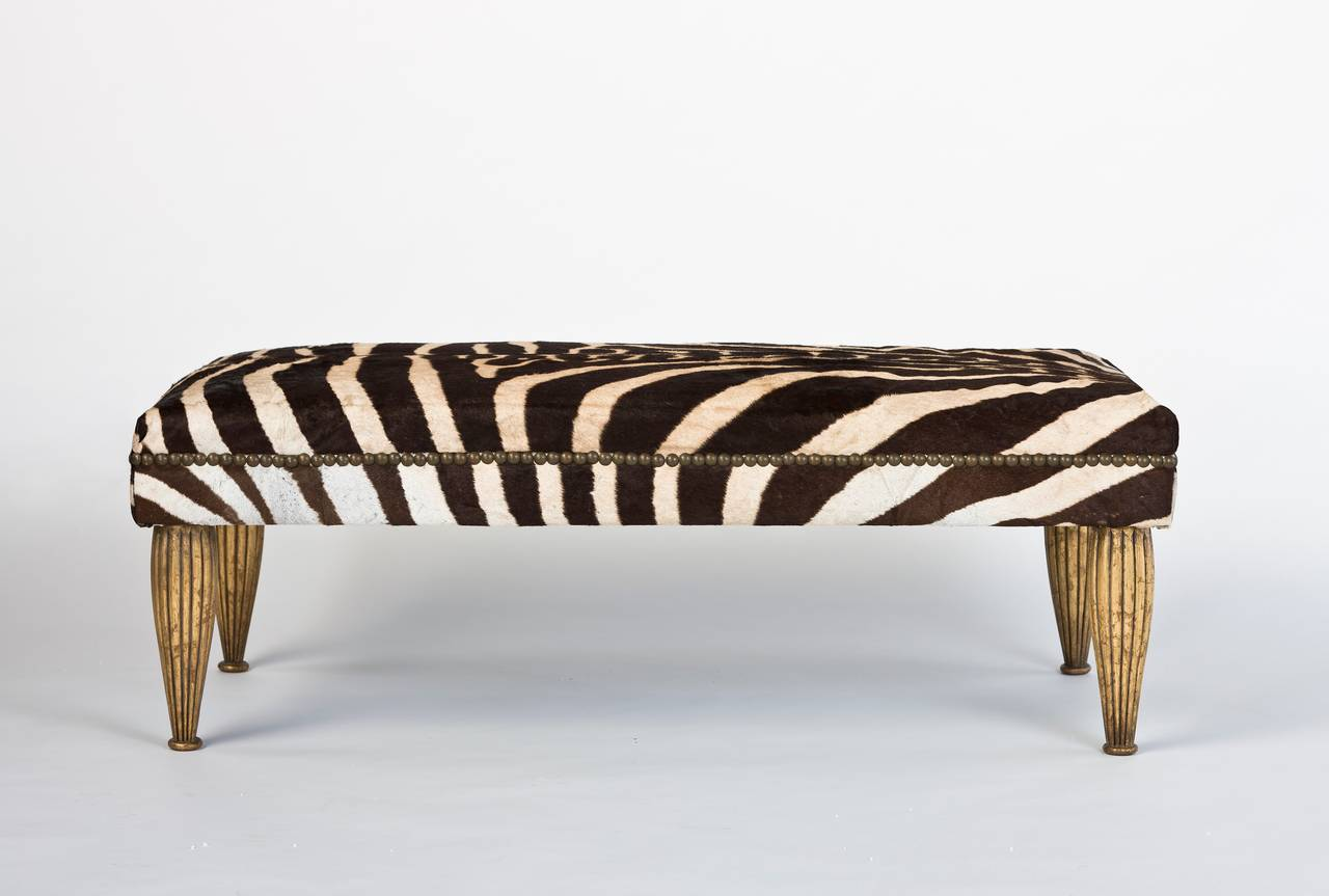 Zebra Bench With Gold Leaf For Sale At 1stdibs