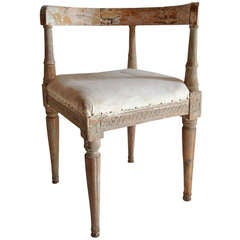 18th Century Swedish Corner Chair with Original Patina