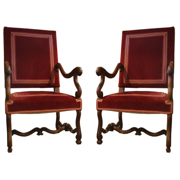 19th century louis xiv pair of fauteuils at 1stdibs. Black Bedroom Furniture Sets. Home Design Ideas