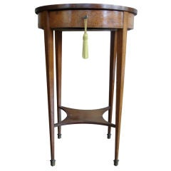 19c French Second Empire Walnut Gueridon with Inlay