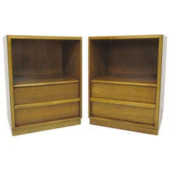 Pair of Mid-Century Night Stands by T.H. Robsjohn-Gibbings for Widdicomb circa 1950s
