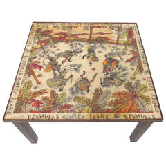 Rare and Unusual Florentine Coffee Table by Emilio Pucci