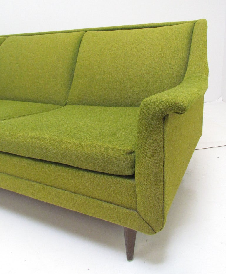 Mid Century Danish Modern Three Seat Sofa Ca 1960s At 1stdibs
