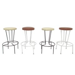 Set of Four Bar Stools by Frederic Weinberg ca. 1950s