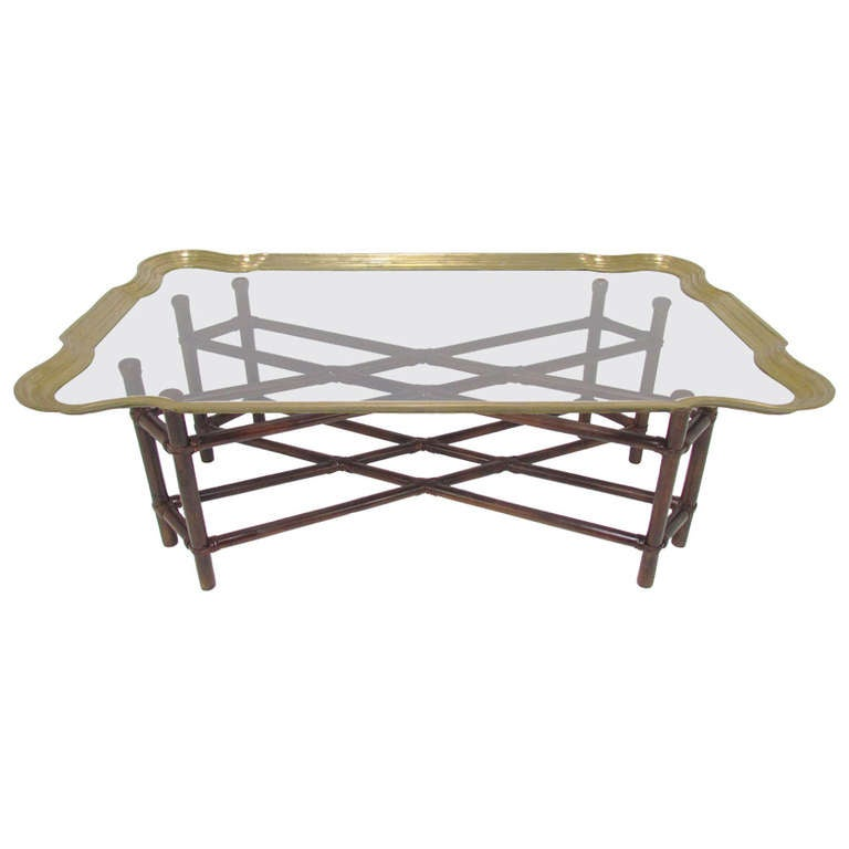 Hollywood Regency Coffee Table In Real Not Faux Bamboo
