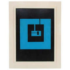 Geometric Abstract Painting by Burton Wasserman, d. 1964-1965