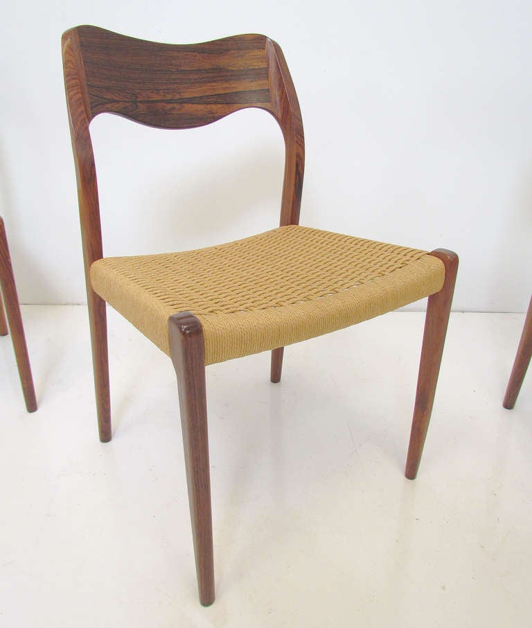 Set Of Six Danish Rosewood Dining Chairs By JL Moller Ca 1960s At 1stdibs