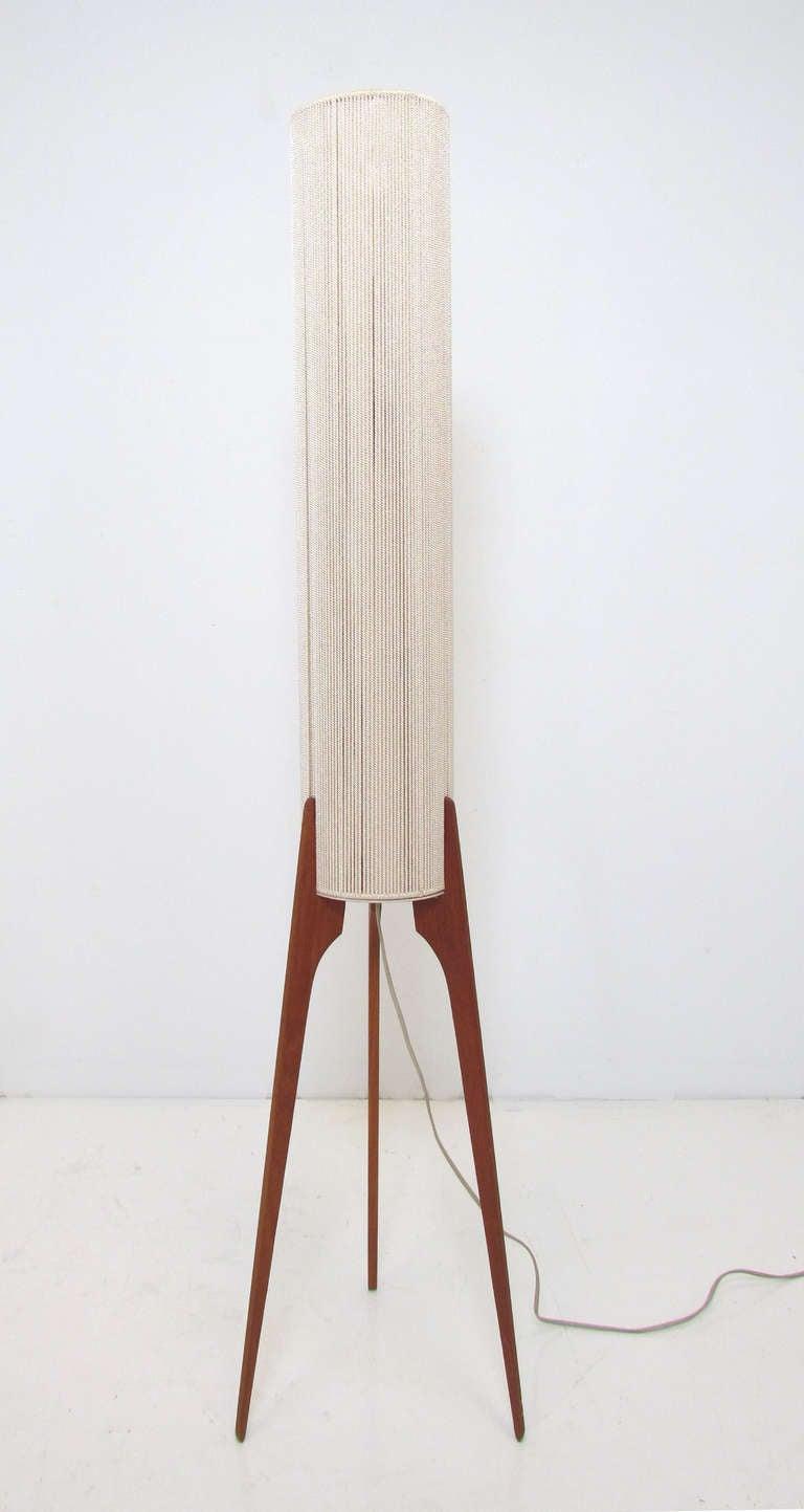 Danish Teak Tripod Floor Lamp Ca 1960s At 1stdibs