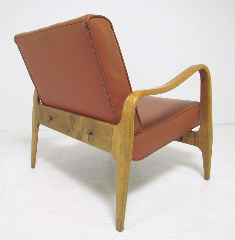 Vintage bent plywood thonet chair - Sculptural Bent Ply Lounge Chair By Thonet Ca 1950s At