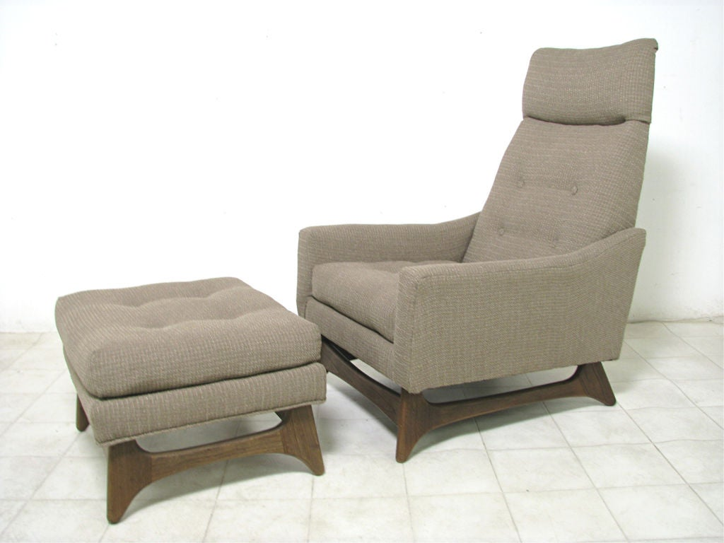 High Back Lounge Chair W Ottoman By Adrian Pearsall Ca 1960s At 1stdibs