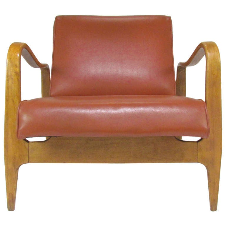 Sculptural Bent Ply Lounge Chair By Thonet Ca 1950s At
