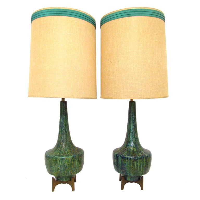 Mid Century Vintage Lights For Sale: Pair Of Mid-Century Modern Table Lamps Ca. 1960s At 1stdibs
