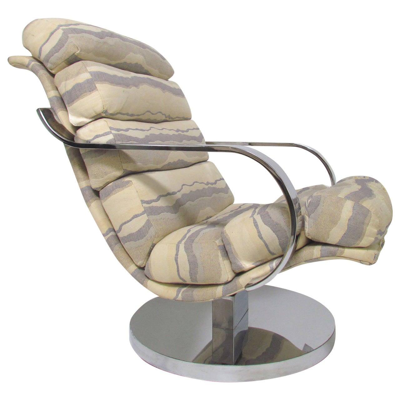 Swivel Rocker Lounge Chair By Milo Baughman At 1stdibs
