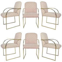 Set of Six Dining Chairs by Milo Baughman for Design Institute America