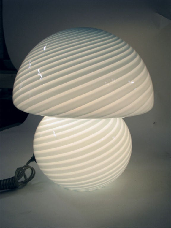 Murano Glass Mushroom Lamp By Venini Italy At 1stdibs