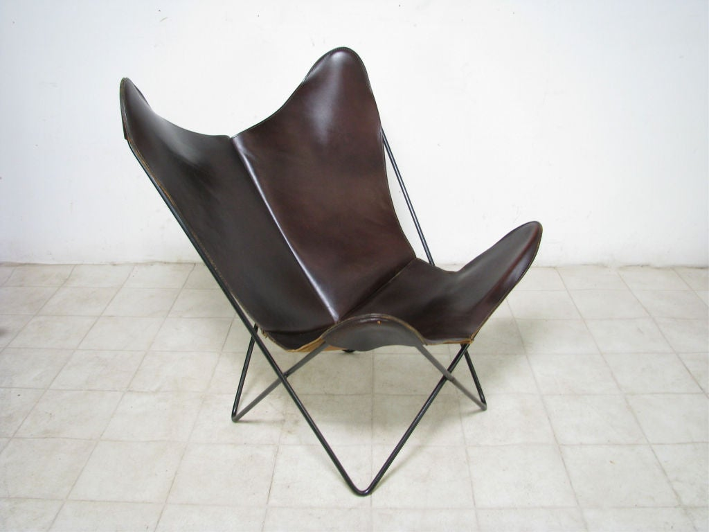 Butterfly Chair By Ferrari-Hardoy, Ca. 1950s At 1stdibs