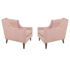 Pair of Mid-Century Modern Wing Back Lounge Chairs ca. 1960s