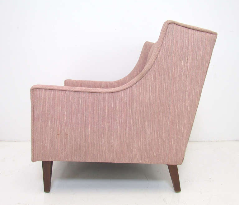 Pair of Mid-Century Modern Wing Back Lounge Chairs ca. 1960s at 1stdibs