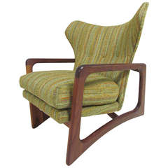 Sculptural Mid-Century Wing Back Lounge Arm Chair by Adrian Pearsall