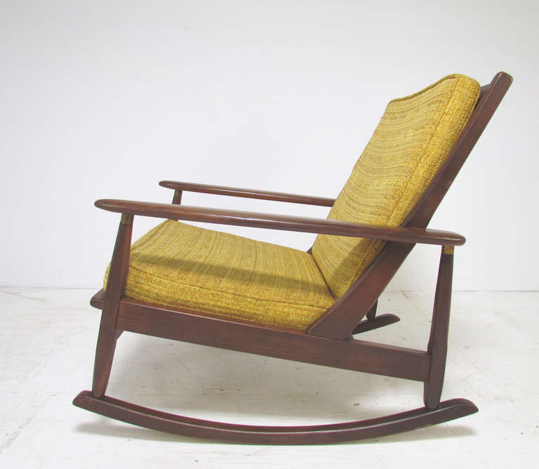 midcentury modern paddlearm rocking chair circa 1960u0027s 3