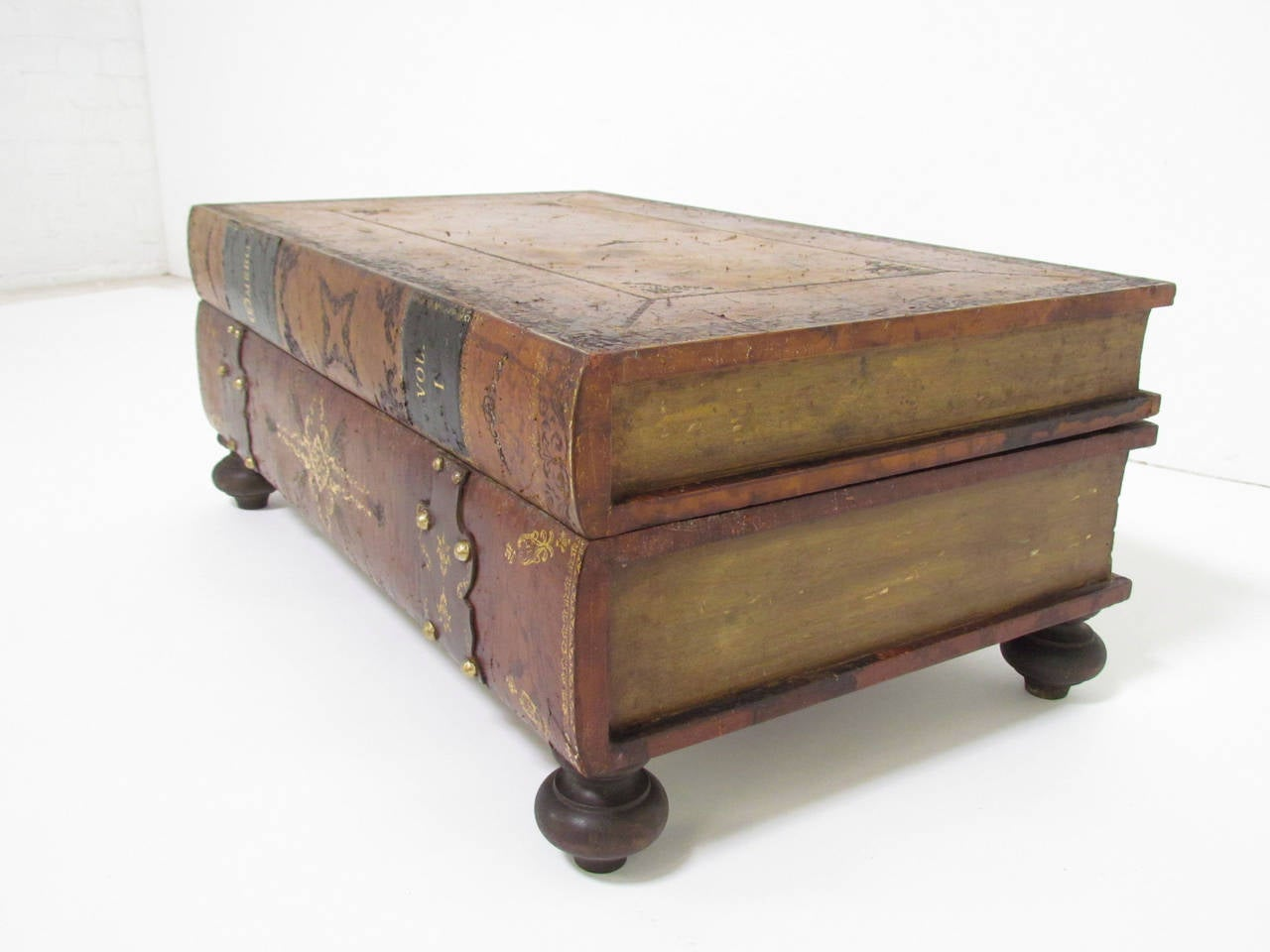 Italian Leather Book Form Table in manner of Maitland - Smith 2