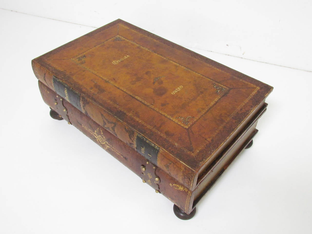 Italian Leather Book Form Table in manner of Maitland - Smith 5