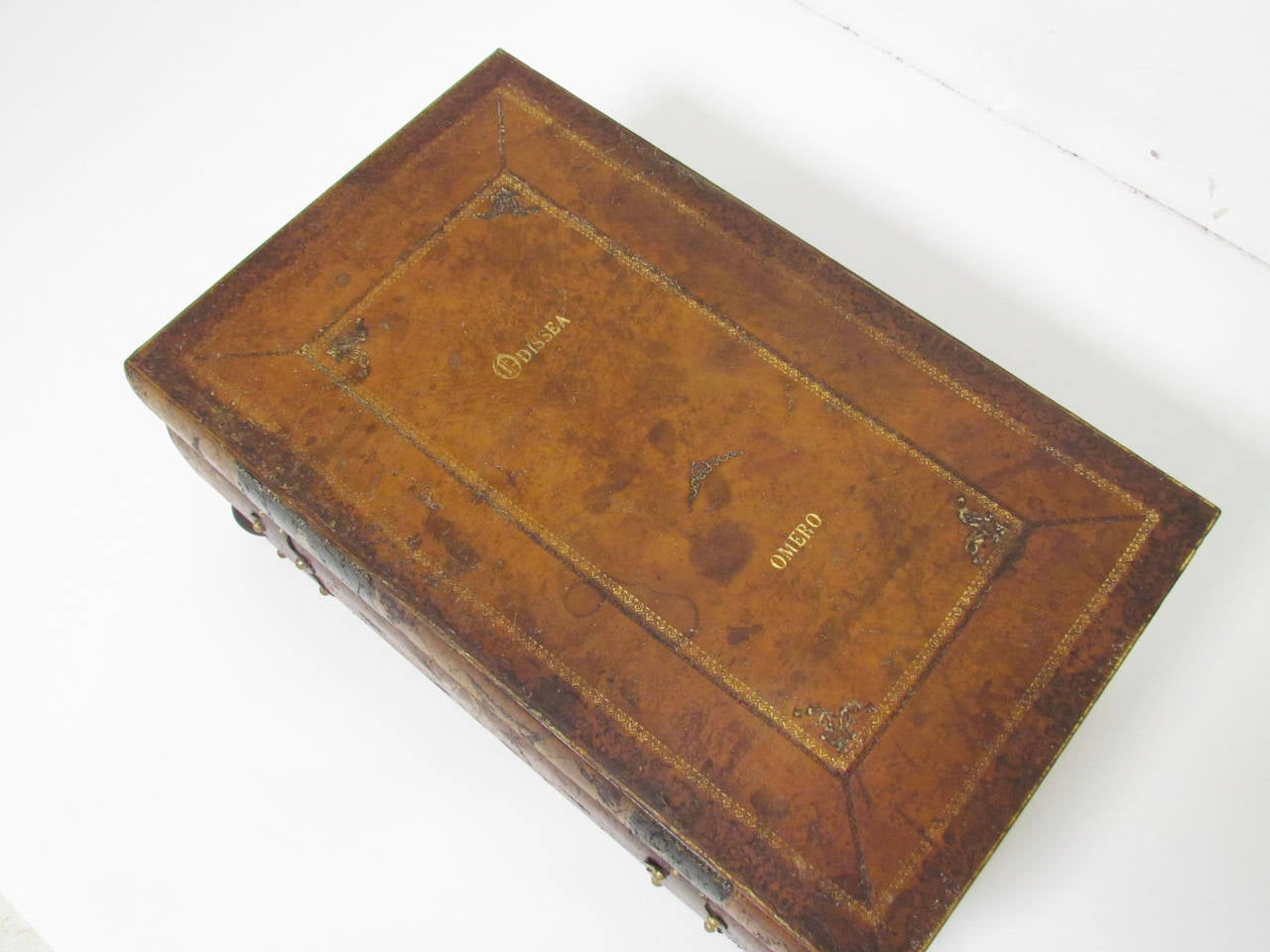 Italian Leather Book Form Table in manner of Maitland - Smith 4